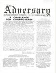 The Adversary (Vol. 2, No. 1, January 22, 1970)