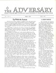 The Adversary (Vol. 4, No. 9, March 1972) by Southern Methodist University School of Law