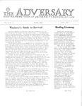 The Adversary (Vol. 4, No. 11, April 1972) by Southern Methodist University School of Law