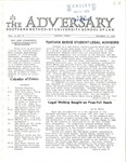The Adversary (Vol. 3, No. 6, November 4, 1970) by Southern Methodist University School of Law