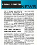 Legal Center News, Vol. 3, No. 1 by Southern Methodist University, School of Law and Southwestern Legal Foundation