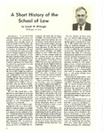 A Short History of the School of Law by Joseph W. McKnight